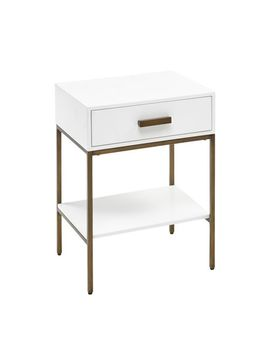 White &Amp; Gold Metal Wood Nightstand by Pier1 Imports