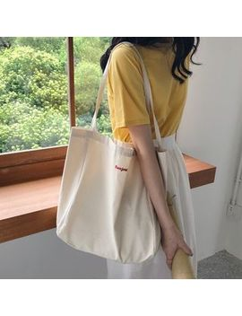 Milha   Lettering Canvas Tote by Milha