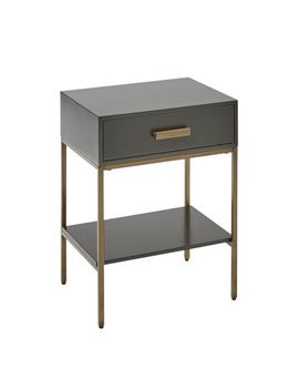 Black &Amp; Gold Metal Wood Nightstand by Pier1 Imports
