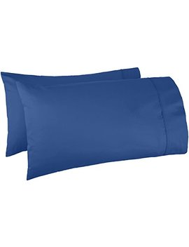 Amazon Basics 400 Thread Count Pillow Cases   Standard, Set Of 2, Navy by Amazon Basics