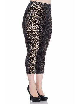 Hell Bunny Panthera Leopard 50s Vintage Retro Capri Trousers 3/4 Pedal Pushers by Hell Bunny