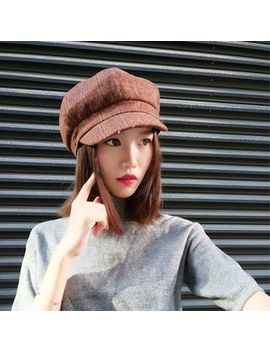 Heloi   Plaid Newsboy Cap by Heloi