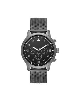 Men's Aviator Mesh Strap Watch   Goodfellow & Co™ Gunmetal by Goodfellow & Co