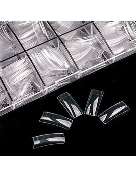 Ecbasket Clear Nail Tips 500 Pcs French Nail Tips Half Cover Fake Nails Tips With Box by Ecbasket