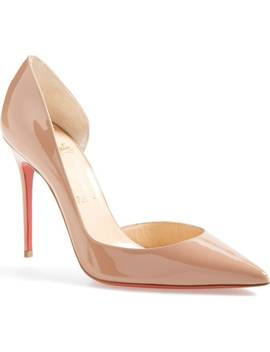 'iriza' Pointy Toe Half D'orsay Pump by Christian Louboutin