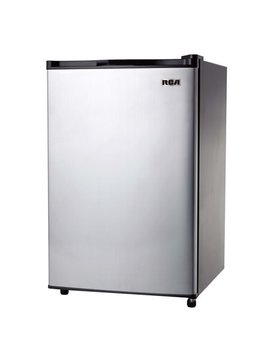 Rca 3.2 Cu Ft Single Door Mini Fridge With Freezer, Stainless Steel by Rca