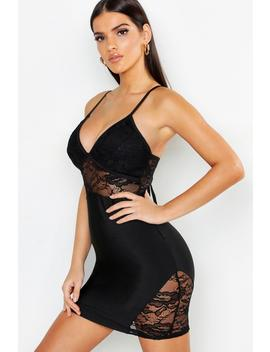 Lace Detail Strappy Bandage Bodycon Dress by Boohoo