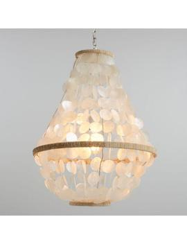 White Capiz Bell Raina Pendant Lamp by World Market