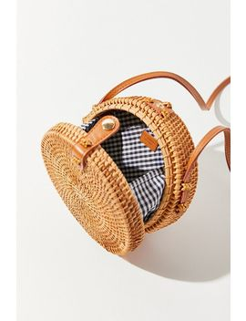 Rattan Mini Circle Bag by Urban Outfitters