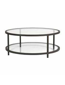 Studio Designs Home 71003.0 Camber Round Coffee Table In Pewter With Clear Glass by Studio Designs Home
