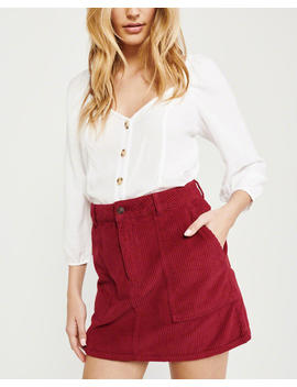 Corduroy Mini Skirt by Abercrombie & Fitch