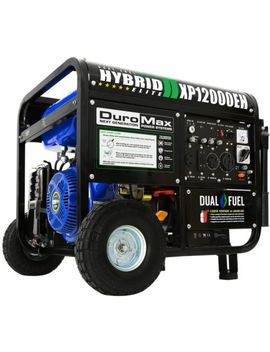 Duromax 12000/9500 Watt 18 Hp Dual Fuel Powered Portable Hybrid Electric Start by Duro Max
