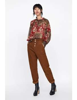 Patchwork Printed Blouse  Topsstarting From 50 Percents Off Woman Sale by Zara