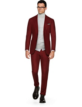 Havana Dark Red Suit by Suitsupply