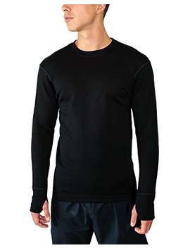 Wool X Glacier   Men's Merino Wool Base Layer Top   Heavyweight Baselayer Crew Shirt For Extreme Warmth by Wool X