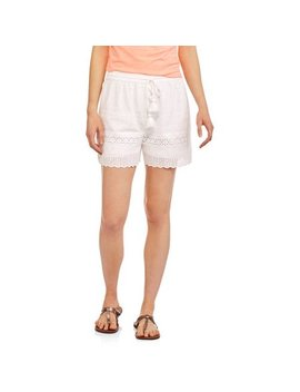 Women's Scalloped Trim Short by Faded Glory