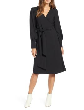 Halogen(R) Wrap Dress (Regular & Petite) by Halogen