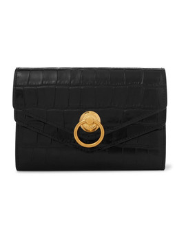 Harlow Medium Croc Effect Leather Wallet by Mulberry