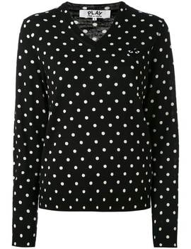 Polka Dot Knitted Sweater by Comme Des Garçons Play