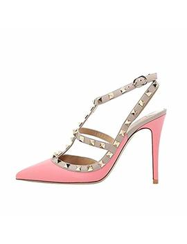 Comfity Sandals For Women,Rivets Studded Strappy High Heels Slingback Gladiator Rock Stud Shoes Dress Sandal by Amazon