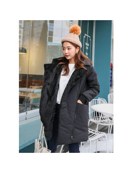 Lol Oten   Tall Size Faux Fur Trim Puffer Jacket by Lol Oten