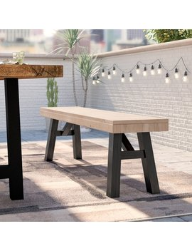 17 Stories Poirier Outdoor Wooden Picnic Bench & Reviews by 17 Stories