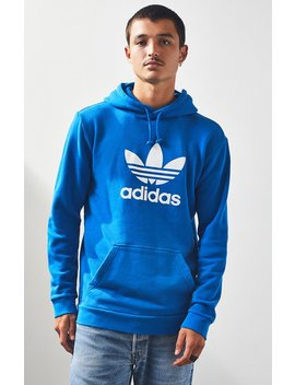 Adidas Trefoil Warm Up Blue Pullover Hoodie by Pacsun