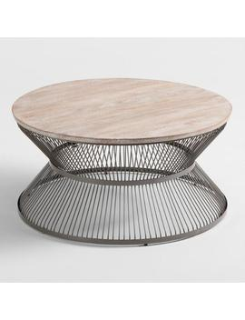 Round Wood And Metal Kearny Coffee Table by World Market