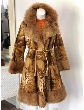 Vintage Faux Fur Penny Lane Almost Famous Woodstock Lined Coat by Etsy