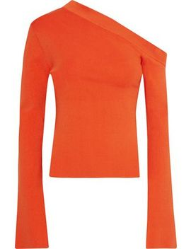 Mariette Asymmetric Stretch Knit Top by Solace London
