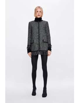 Tweed Jacket With Metallic Thread  Outerwearstarting From 50 Percents Off Woman Sale by Zara