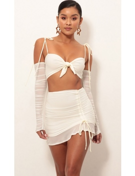 Luciana Two Piece Set In Ivory by Lucy In The Sky