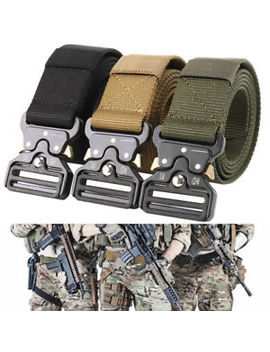 Mens Heavy Duty Military Canvas Belt Tactical Bag Army Outdoor Utility Waistband by Willstar