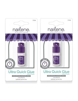 Nailene Ultra Quick Nail Glue (Pack Of 2)… by Nailene