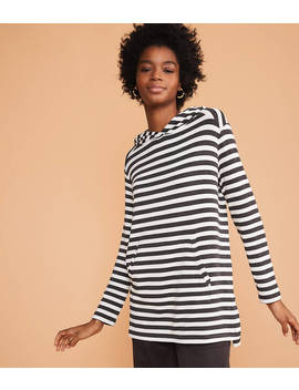 Lou &Amp; Grey Striped Signaturesoft Hoodie Top by Loft