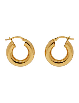 Gold Tiny Everyday Hoop Earrings by Sophie Buhai