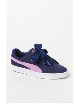 Puma Women's Basket Heart Nylon Sneakers by Pacsun