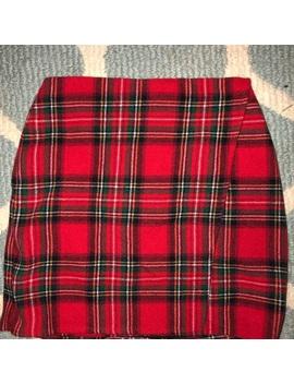 Plaid Mini Skirt by Hollister