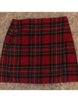 Plaid Mini Skirt Nwt/New by Hollister