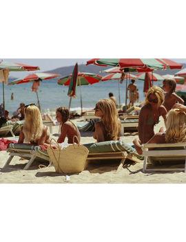 "Slim Aarons ""Saint Tropez Beach"" Photograph by Jonathan Adler"
