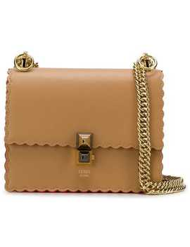 Kan I Mini Scalloped Shoulder Bag by Fendi