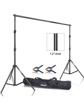 emart-photo-video-studio-92-x-10ft-heavy-duty-background-stand-backdrop-support-system-kit-with-carry-bag-for-photography by emart