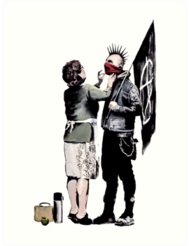 Banksy   Anarchist And Mother by Streetartfans