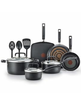 T Fal C530 Sc Signature Nonstick Dishwasher Safe Cookware Set, Nonstick Pots And Pans Set, Thermo Spot Heat Indicator, 12 Piece, Black by T Fal