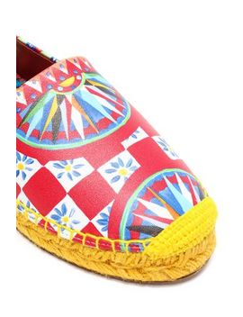 Printed Leather Espadrilles by Dolce & Gabbana