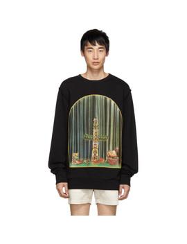 Black Totem Window Sweatshirt by Loewe