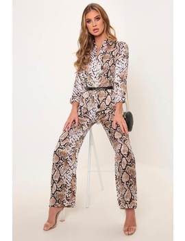 Grey/Light Snake Print Jumpsuit by I Saw It First
