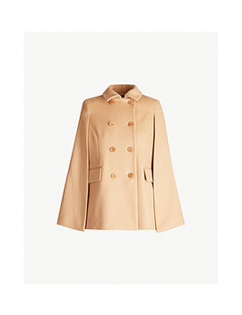 Garmi Cape Back Wool And Cashmere Blend Coat by Maje