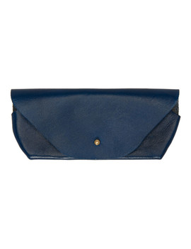 Blue Leather Glasses Case by Maximum Henry