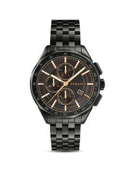 Glaze Black Bracelet Watch, 44mm by Versace Collection